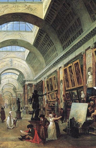 Die Louvre Bilder von Robert werden im Trimester 6 der Winckelmann Akademie fuer Kunstgeschichte Muenchen besprochen.