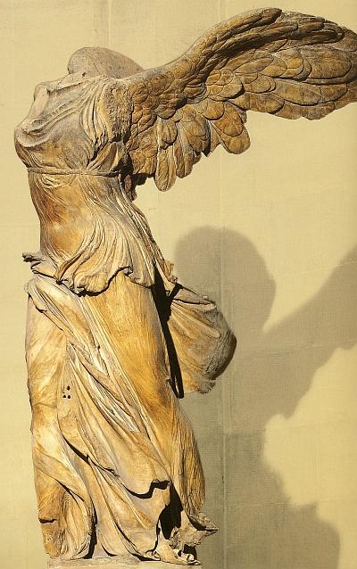 Die Nike von Samotrake wird im Aufbaukurs der griechischen Antike der Winckelmann Akademie fuer Kunstgeschichte Muenchen besprochen.