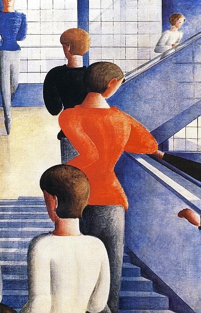 Die Bauhaustreppe von Schlemmer wird im Trimester 9 der Winckelmann Akademie fuer Kunstgeschichte Muenchen besprochen.
