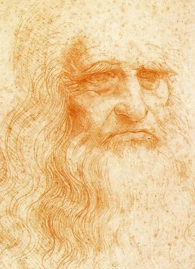 Das Selbstbildnis von Leonardo da Vinci wird im Trimester 4 der Winckelmann Akademie fuer Kunstgeschichte Muenchen besprochen.