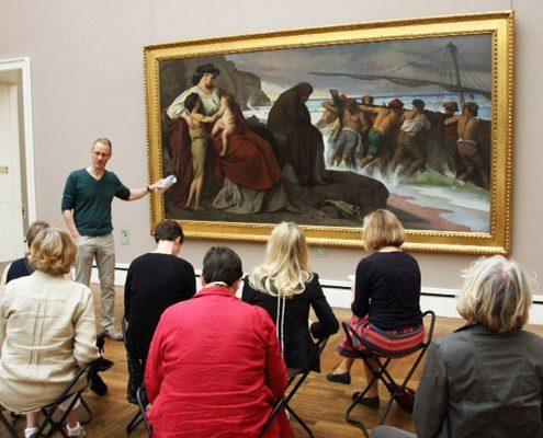 Winckelmann Akademie fuer Kunstgeschichte Muenchen, Exkursion Neue Pinakothek Oktober 2014-1
