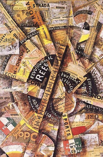 Die moderne Materialkollage wird im Trimester 9 der Winckelmann Akademie fuer Kunstgeschichte Muenchen besprochen.