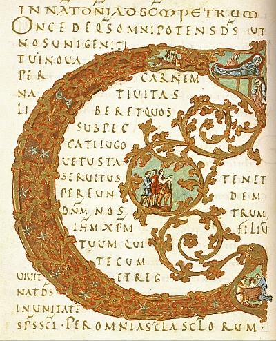 Die karolingische Buchmalerei wird im Trimester 1 der Winckelmann Akademie fuer Kunstgeschichte Muenchen besprochen.