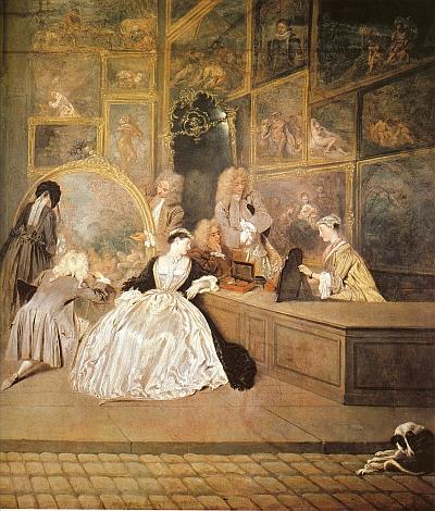 Das Gemälde von Watteau wird im Aufbaukurs 6 der Winckelmann Akademie fuer Kunstgeschichte Muenchen besprochen.