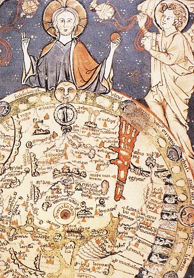 Die Weltkarte aus dem 13 Jahrhundert wird im Trimester 2 der Winckelmann Akademie fuer Kunstgeschichte Muenchen besprochen.