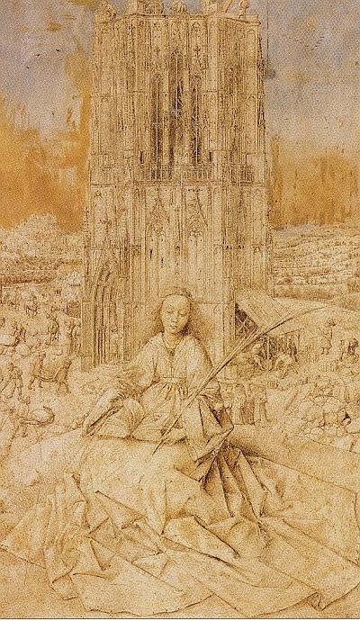 Das Gemaelde von Jan van Eyck wird im Trimester 3 der Winckelmann Akademie fuer Kunstgeschichte Muenchen besprochen.