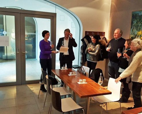 Winckelmann Akademie fuer Kunstgeschichte Muenchen, Studientag, Mittagessen Geburtstag 2017