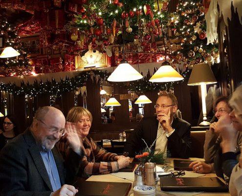 Winckelmann Akademie fuer Kunstgeschichte Muenchen, Studientag, Mittagessen Weihnachten 2016