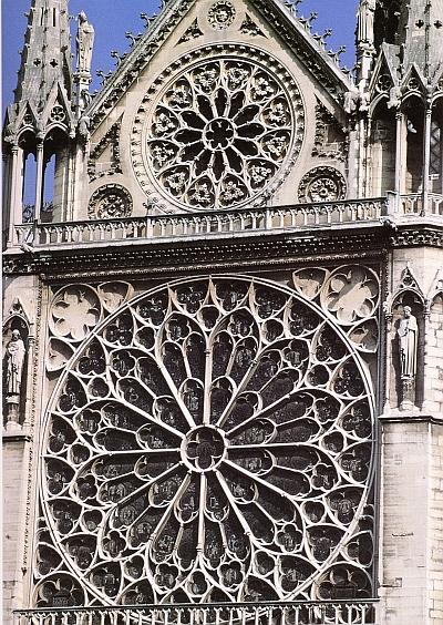 Die Rosenfenster der franzoesischen Hochgotik werden im Trimester 2 der Winckelmann Akademie fuer Kunstgeschichte Muenchen besprochen.