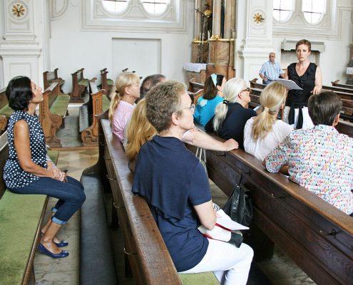 Winckelmann Akademie fuer Kunstgeschichte Muenchen, Exkursion Weilheim August 2017-1