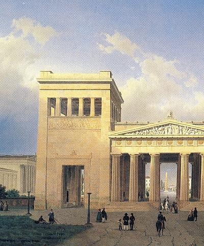 Die Proplyläen von Klenze werden im Trimester 7 der Winckelmann Akademie fuer Kunstgeschichte Muenchen besprochen.