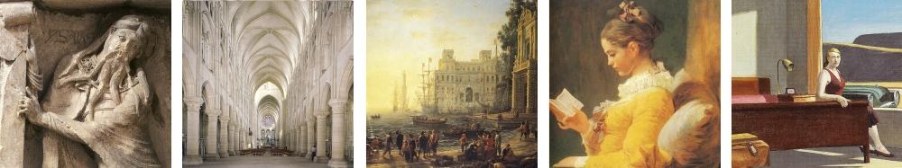 Die Bilder von der Romanik bis zur Moderne werden in der Winckelmann Akademie fuer Kunstgeschichte besprochen.