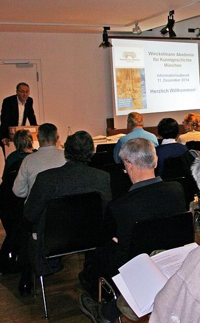 Informationsabend an der Winckelmann Akademie fuer Kunstgeschichte Muenchen